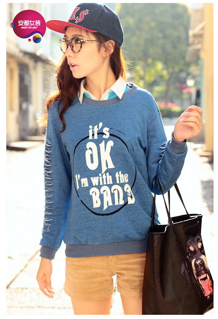 Hàng order áo hoodie không mũ cutout - APNU1005